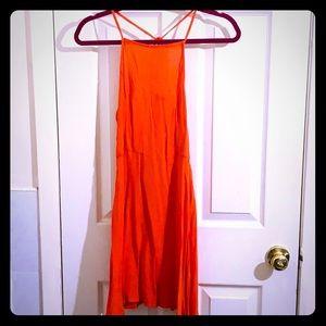 A frame strappy back summer dress